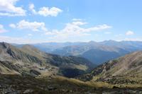 Panoramablick der Pyrenäen