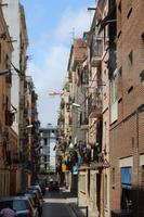 Typische Nebenstraße in Barcelona