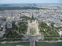 Blick von der Spitze auf Trocadero