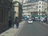 Straße am Élysée-Palast