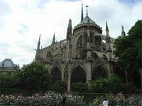 Hintere Ansicht der Notre Dame
