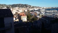 Blick auf Cannes von der Stadtmauer