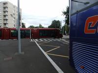 Clermont-Ferrand. Straßenbahn auf Gummireifen