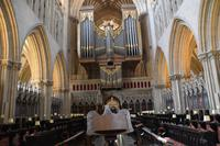 0646 Wells Cathedral, Chor mit Orgel