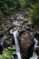 Braan River Wasserfall von Ossian's Hall aus gesehen