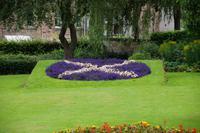 Schottisches Wappen Jedburgh (Garten des Hauses, in dem Mary Stuart, Queen of the Scots nächtigte