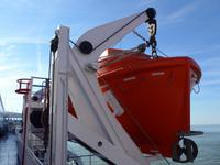 Rettungsboot auf Fähre Kings Seaways