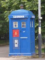Mobiler Polizeiposten - heute schönes Erinnerungsstück - Glasgow