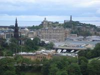 Edinburgh Scotts Monument-Bahnhofshotel-Carlton Hill