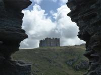 Tintagel Blick auf King's Arthur's Castle Hotel - heute Camelort Castle Hotel
