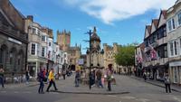 Der Stadtkern von Wells
