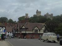 Blick auf Stadt und Burg von Arundel