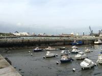 Bootshafen Calais bei Ebbe