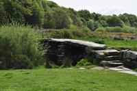 Südengland - Devon - Dartmoor - Clapper Bridge in Postbridge