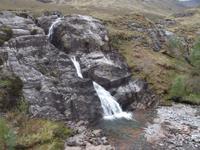 Schottische Highlands, Wasserfall im Glencoe-Tal
