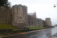 Stadtmauer in Caernarfon