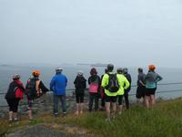 Blick auf die Kreuzfahrtschiffe vor Guernsey