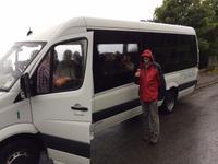 Unterwegs auf Jersey im Minibus
