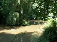 Teichanlage in der Nähe der La Seigneurie auf dem Weg zum Window-Rock
