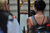 Verkündigung der Geburt des Thronfolgers Prince George vor dem Buckingham Palace