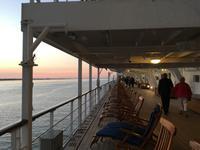Abendstimmung auf der Queen Mary 2