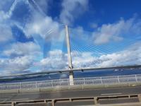 910_Rückfahrt; vorbei an der neuen Queensferry Crossing...