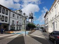 Portugal, Azoren, Ponta Delgada, Rathausplatz