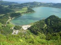 Portugal, Azoren, Furnassee vom Iria Ausblick