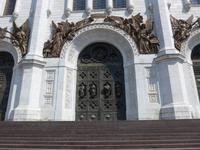 Russland, Moskau, Eingang zur Christ Erlöser Kirche