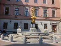 Russland, Moskau, Denkmal für eine Tänzerin vor dem Theater auf dem alten Arbat