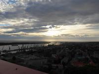 Litauen, Kleipeda, Blick vom Amberton Hotel zum Haff