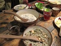 Mittagessen in der Bauernschänke im Fischerdorf Altja