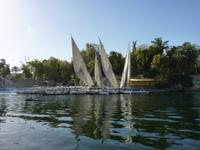 Ausflug mit dem Boot zum Nubischen Dorf