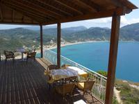 Korfu, Blick von  Afionas auf die Bucht von Agios Georgios