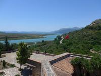 Korfu, Albanienausflug, Butrinti, Blick  auf den Vivar-Kanal und auf die Insel Korfu