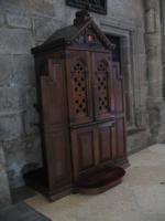 Beichtstuhl in der Kathedrale in Santiago de Compostela