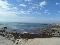 Blick vom Hafen auf das Meer in A Guarda
