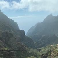 Blick von oberen Rand der Steilküsten