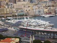 Blick auf Rennstrecke Monte Carlo