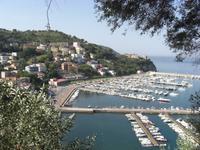 Ausblick von Agropoli auf den Hafen