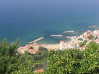 Blick von Castellabate auf den Küstenort Marina de Ca...