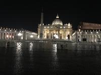Der Petersdom am Abend