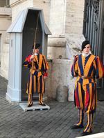 Die berühmte Schweizer Garde- im Stillstehen geübt