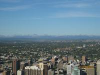 Die Rocky Mountains in weiter Ferne