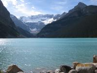 Der Blick auf den Victoria gletscher