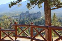 Aussicht auf das Banff Springs Hotel