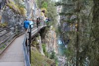 Wanderung am Johnston Canyon