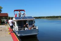 Katamaran-Bootsfahrt im Delta der Swine - Insel Karsibor