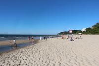 Spaziergang in Misdroy an der polnischen Ostsee