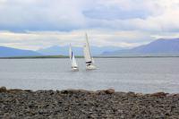 Reykjavik Blick auf den Hausberg Die Esja